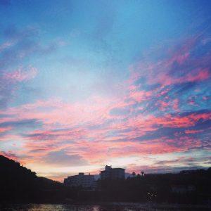 夕焼けがすごくキレイ!