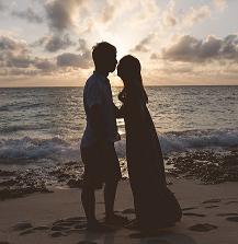 海辺でキス!!