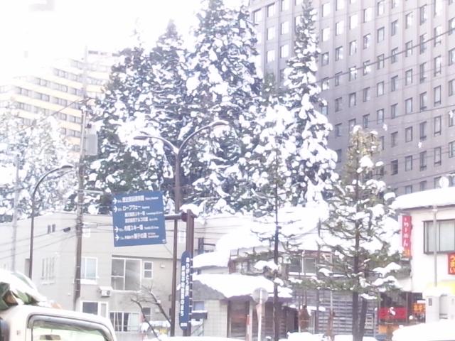 新潟県越後湯沢の12月の積雪